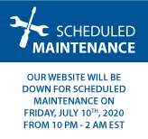 Our website will be down for scheduled maintenance on Friday, July 10th, 2020 From 10PM to 2AM EST
